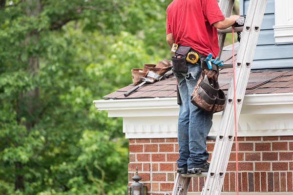Man doing a roof inspection